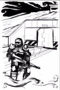 Boceto para Rescate en Remsis VII